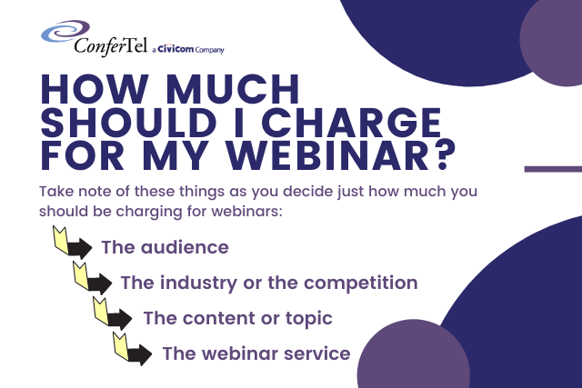 Infographic - Factors in deciding how much to charge for your webinar